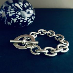 .925 Sterling Silver Toggle Chain Bracelet